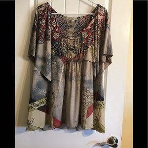Blouse multi color 2X live and let live